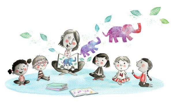 Storytime - illustration by Alice Carter